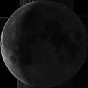Убывающая луна полумесяца
